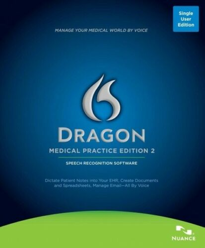 Dragon Medical Practice Edition v2 by Nuance Speech Recongition Software