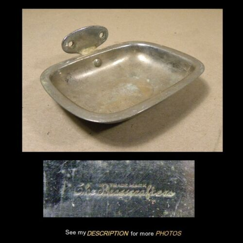 Antique 1902 The Brasscrafter Bathroom Nickle Plated Brass Soap Dish