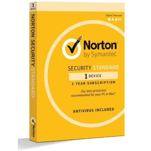Norton Security Standard 1 Device for PC MAC Android iOS 1 Year Retail Box
