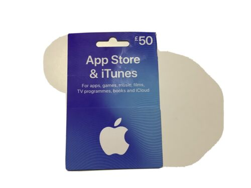 £50.00 Apple ITunes Gift Voucher For Uk Use Only