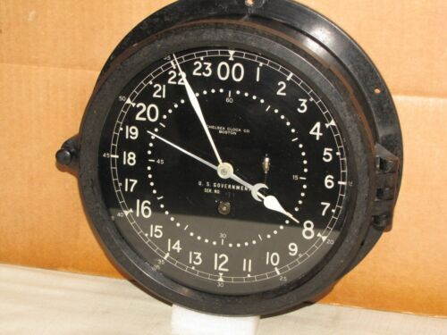 CHELSEA U.S. AIR FORCE  CLOCK ~8 1/2 IN~1956~MISSILE SILO??~24 hr.DIAL~RESTORED