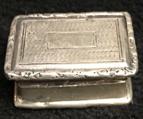 Antique Sterling Silver Box William IV c1830
