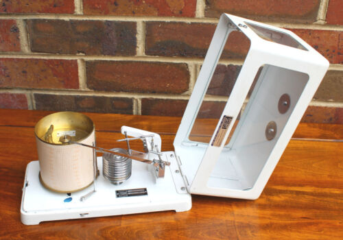 """Vintage Scientific Instrument: Meteorological Wind-Up Barograph by """"Thies"""" 1940"""
