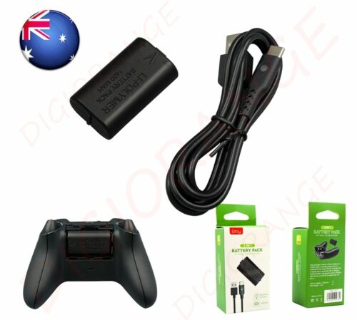 Xbox One Gamepad Rechargeable Battery Pack With LED USB Cable for MS Xbox One/SX