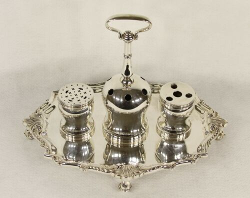 REED & BARTON STERLING SILVER INKSTAND DECLARATION OF INDEPENDENCE