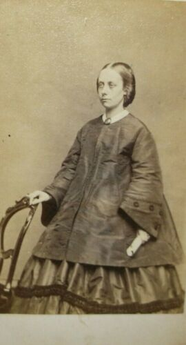 Cdv Young Lady Hoop dress, Coat By Carbutt Chicago