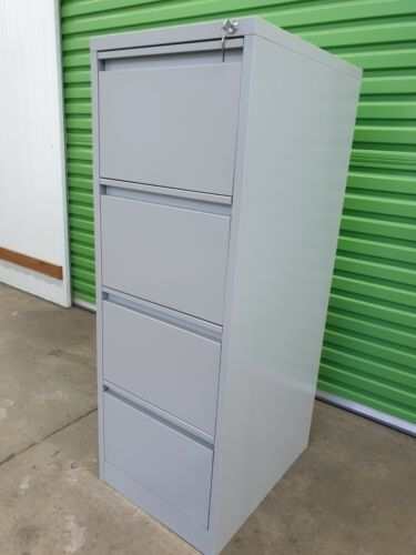Precision 4 drawer metal filing cabinets office storage stationery documents