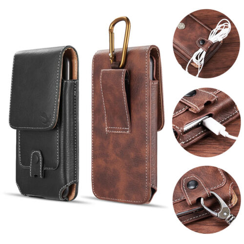 Vertical PU Leather Cellphone Holster Case Belt Clip Pouch For iPhone 12 Mini SE