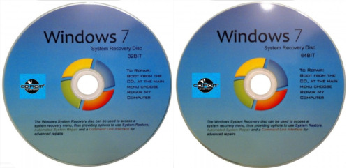 32 & 64 Bit System Recovery Software Disc's - 2020 x 2 -NEW