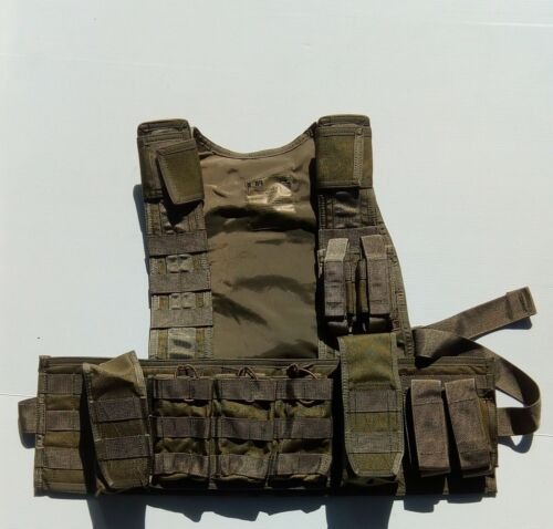 Sord SCS Recon chest rig and pouches green low profile, military, hunting,size LModern, Current - 36066