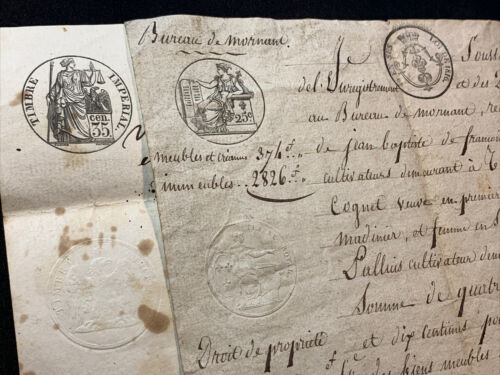LOT OF TWO DOCUMENTS 1820s
