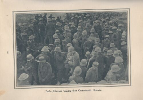 """Original 1917 Anzac Print-Antique Vintage """"Boche Prisoners wearing their Charact1914 - 1918 (WWI) - 13962"""