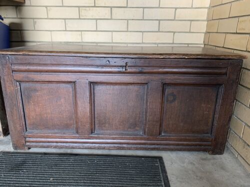 Antique Oak Georgian Coffer/ Chest