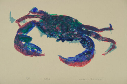Charles BLACKMAN Crab From the Rainforest - Signed Screenprint on Rice Paper