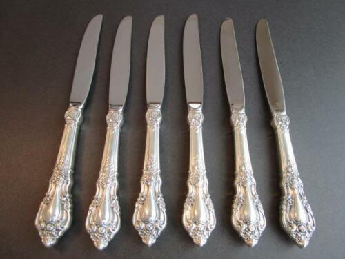 "PRICE PER 1* LUNT ELOQUENCE STERLING FLATWARE TRUE DINNER KNIFE-9 3/4"" EXCL*"