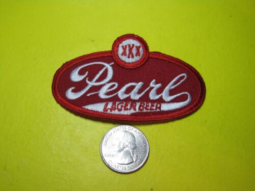 BEER PATCH PEARL BEER SMALL SIZE IRON ON -or- SEW ON BACKING TEXAS BREW CAP ETC!