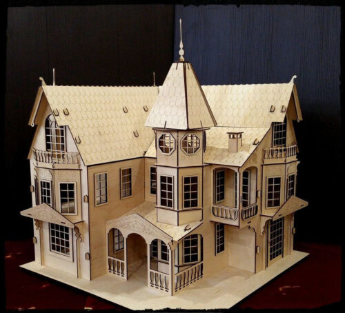 1:16 Large Fantasy Mansion Wooden Dollhouse Great Detail Kids Gift Home Decor