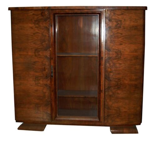 Art Deco Bookcase/ Display Cabinet c. 1930 French #1407