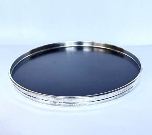 GORHAM Mid Century Sterling Silver and Laminate Round Trivet Tray Vintage