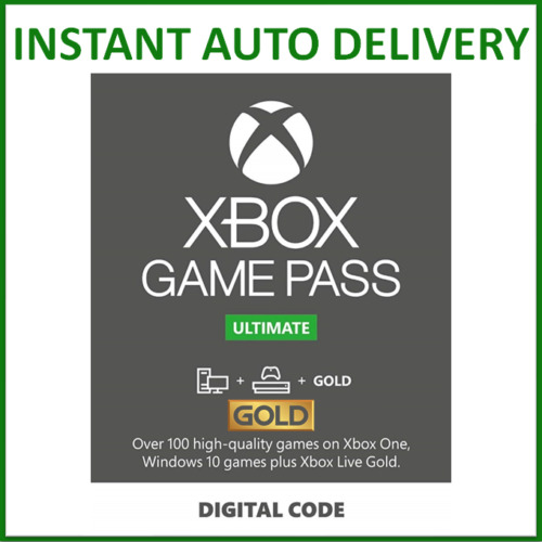 Xbox Live Gold & Game Pass Ultimate Membership 1, 2, 3, 6, 12 Month & 7, 14 Days <br/> 24/7 INSTANT EMAIL DELIVERY - WORKS WORLDWIDE - GLOBAL
