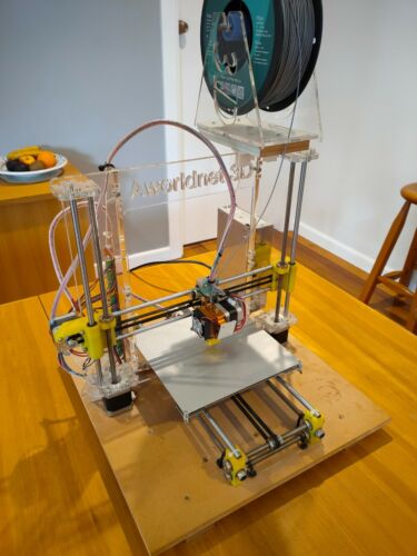 Aworldnet 3D printer and new 1kg reel of silver PLA+ filament