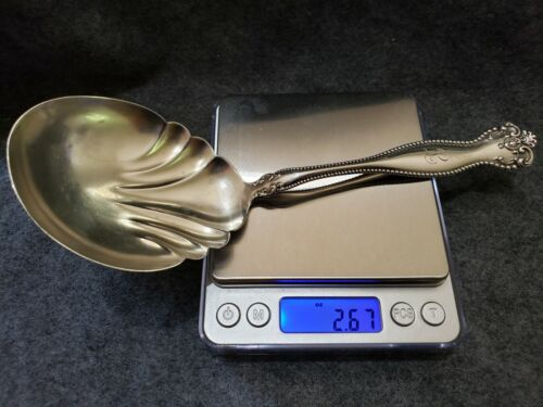 """Alvin & Co Sterling Silver RALEIGH Solid Salad Serving Spoon Berry Spoon 9"""""""