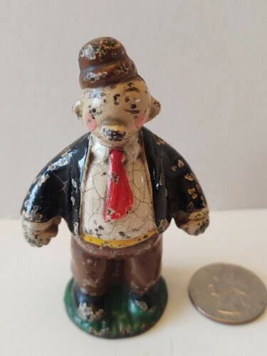 HUBLEY USA CAST IRON KFS 1928 WIMPY From Popeye MAN  STATUE PAPERWEIGHT 3 1/4''