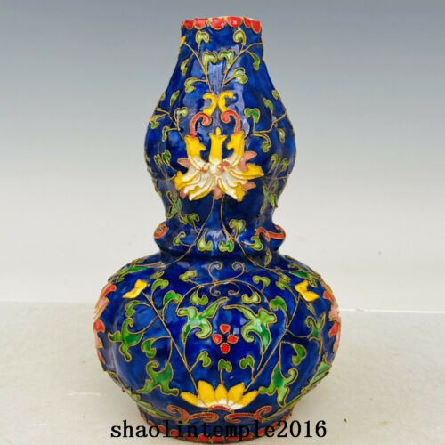 """8.4"""" China  Song dynasty  Official porcelain  Pinching  Enamel  gourd  bottle"""