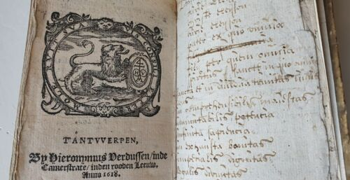 Extremely rare little Religious Book - 1618 - Saint Augustine -  woodcut ills.