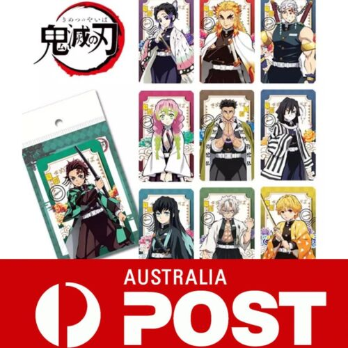 Full Set 10 PCS Anime Demon Slayer Collection Cards Photocard Character Card