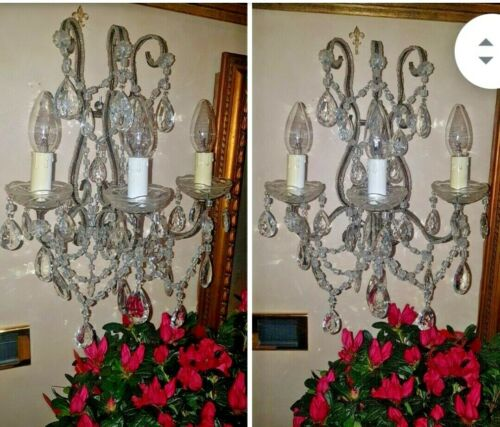 PAIR OLD WALL LAMPS 1920 CREATION
