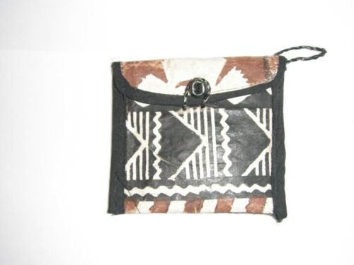 Stunning Purse Coin Case Tapa Bark Cloth Vintage 1980s from Somoa