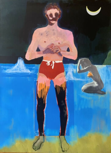 PETER DOIG 'BATHER FOR SECESSION' 2020, ED. 123, SIGNED & NUMBERED, LARGE, MINT