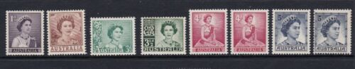1959-64 set of 6 QE2 definitive stamps, Plus both TypeA/B,  MNH/MLH