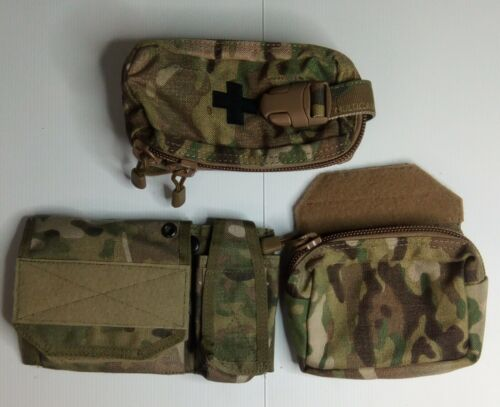 Set of 3 admin pouches multicam, military, police, hunting, gel blastersModern, Current - 36066