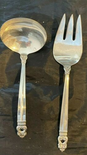 ROYAL DANISH STERLING SILVER FLATWARE SET BY INTERNATIONAL 2 SERVERS