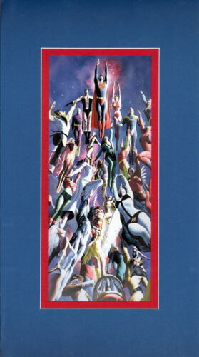 LEGION Of SUPERHEROES COLLAGE Print Professionally Matted Alex Ross Artwork