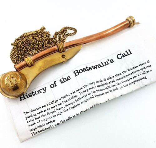 Boatswain's Call/Whistle with chain