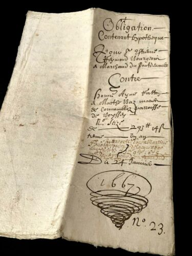 1667 OLD AUTOGRAPHED DOCUMENT 12 pages