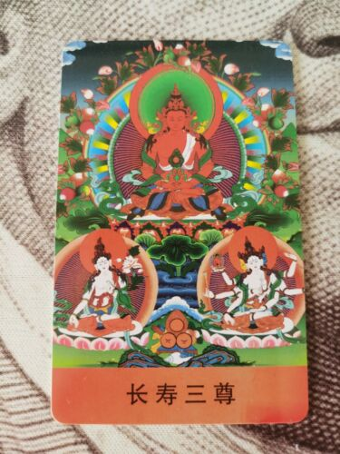 Tibetan Buddhism painting Amulet thangka Anti-evil amulet card Free Delivery A95