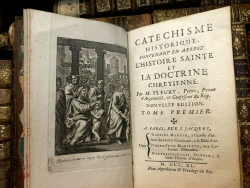 1740 HISTORICAL CATECHISM CONTAINING BRIEF HISTORY OF DOCTRINE - 30 EngravingsAntiquarian & Collectible - 29223