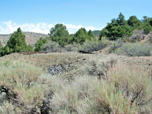 Nevada Gold Silver Mine Historic Comstock Mining Claim Adit Shaft Pit NV Au <br/> Ore Chute + Cabin Remnants / Nice Tailings Au + Ag