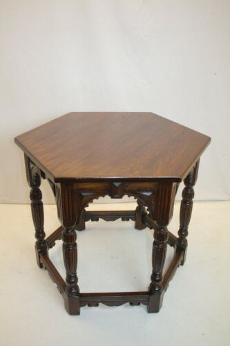 American Hexagon Architectural Side End Center Table  Flint And Horner NY