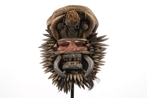 """Decorated Dan Guere Mask 19"""" - Ivory Coast - African Art"""