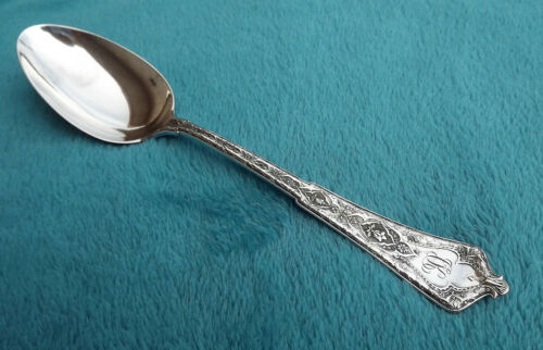 """Persian by Tiffany 8 5/8"""" long Sterling table serving spoon mono CK '1888' FAH"""