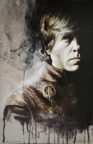 Game Of Thrones TYRION LANNISTER Dinklage Print DC HAND SIGNED ROB PRIOR w COA