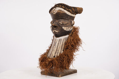 """Pende Mbuya Mask on Stand 14.5"""" - DR Congo - African Art"""