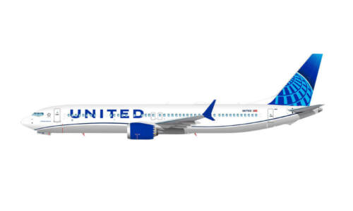 Boeing 737 Max 9 - United Airlines Boeing - modèle à emboiter 1/200 Herpa