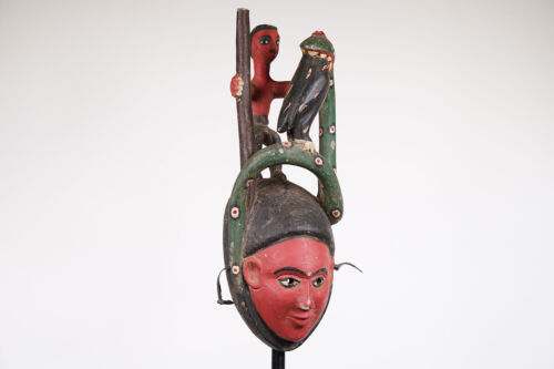 """Tiv Mask with Superstructure 20.25"""" - Nigeria - African Art"""