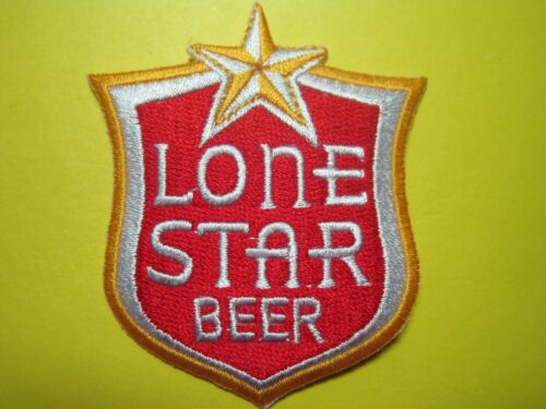BEER PATCH LONE STAR BEER NEW CUTOUT TEXAS BEER IRON ON BACKING! LOOK! BUY NOW!